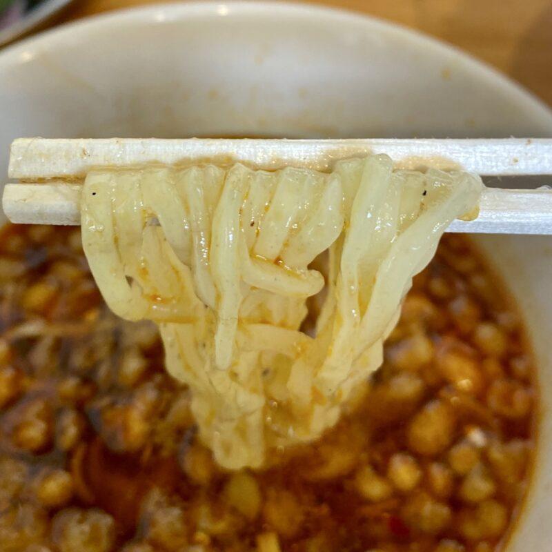 中華そばde小松 秋田県大仙市大曲丸の内 辛い鶏つけそば 生卵トッピング シルキー麺ver 麺