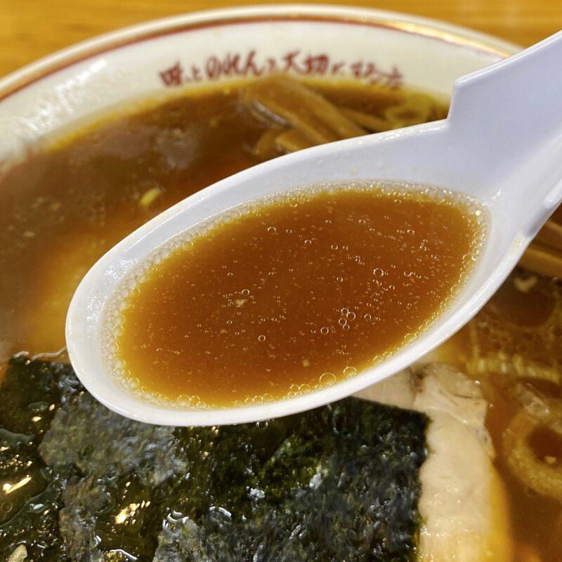 吾作ラーメン 東能代店 秋田県能代市扇田 醤油味 醤油ラーメン スープ
