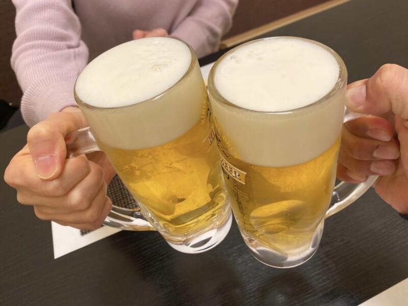 北の味物語 わたなべ 静岡県沼津市本字新町 生ビール 乾杯