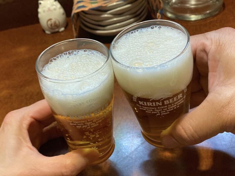 くいもんや 一歩 静岡県沼津市三枚橋町 ビール 乾杯