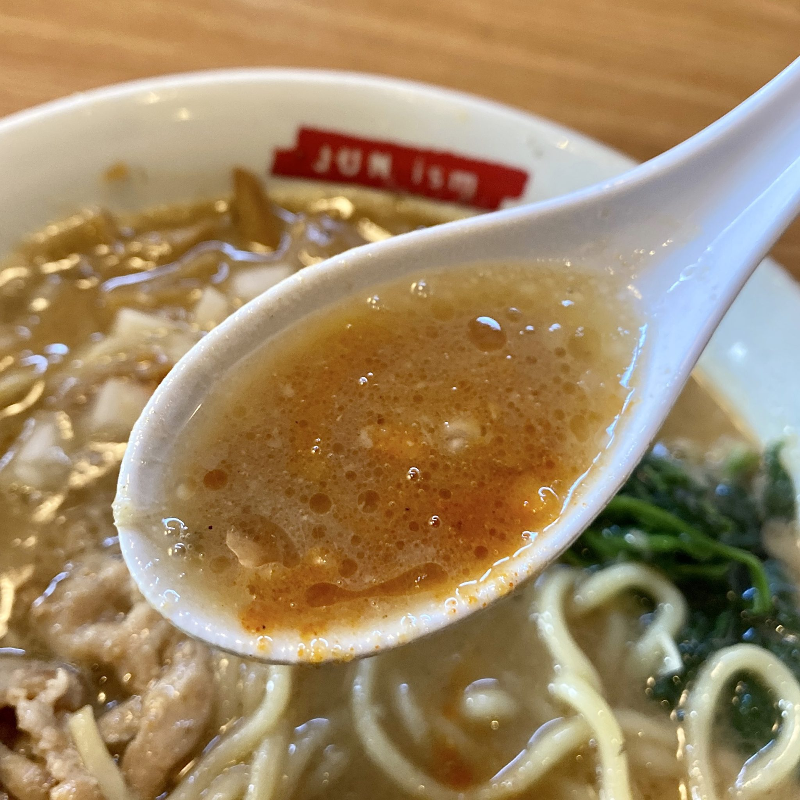 らーめん滋魂 じこん 新潟県新潟市東区松崎 禁断の特濃みそらーめん 新潟濃厚味噌ラーメン スープ