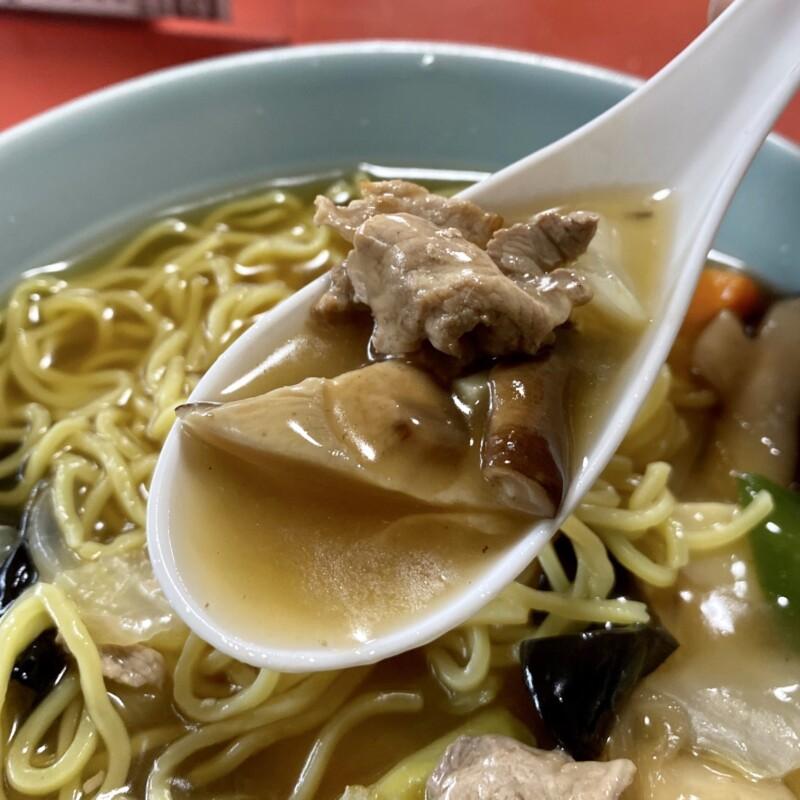 中華飯店 千草 秋田県横手市中央町 広東麺 うまにそば スープ