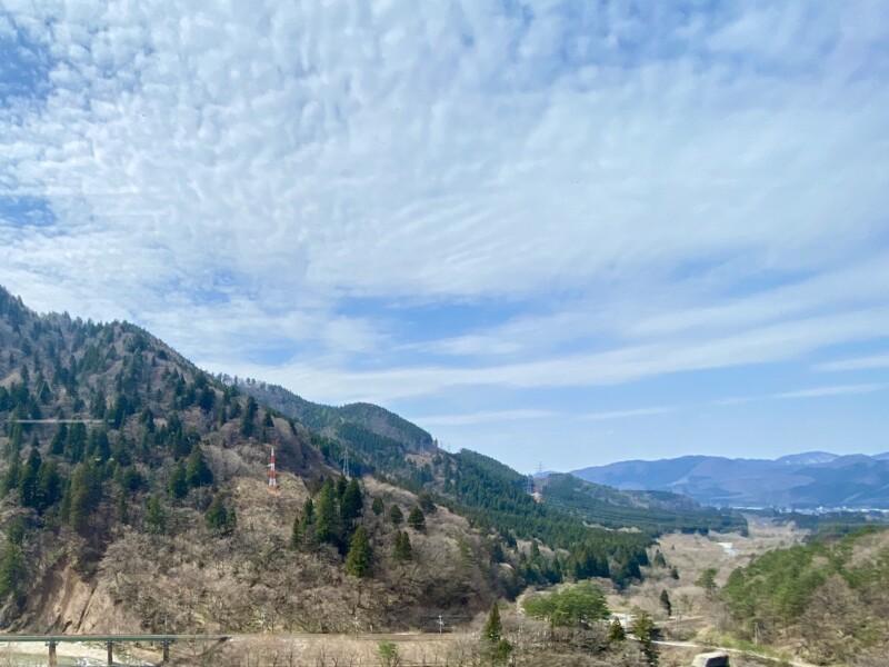 仙岩峠の茶屋 秋田県仙北市田沢湖生保内 窓からの風景