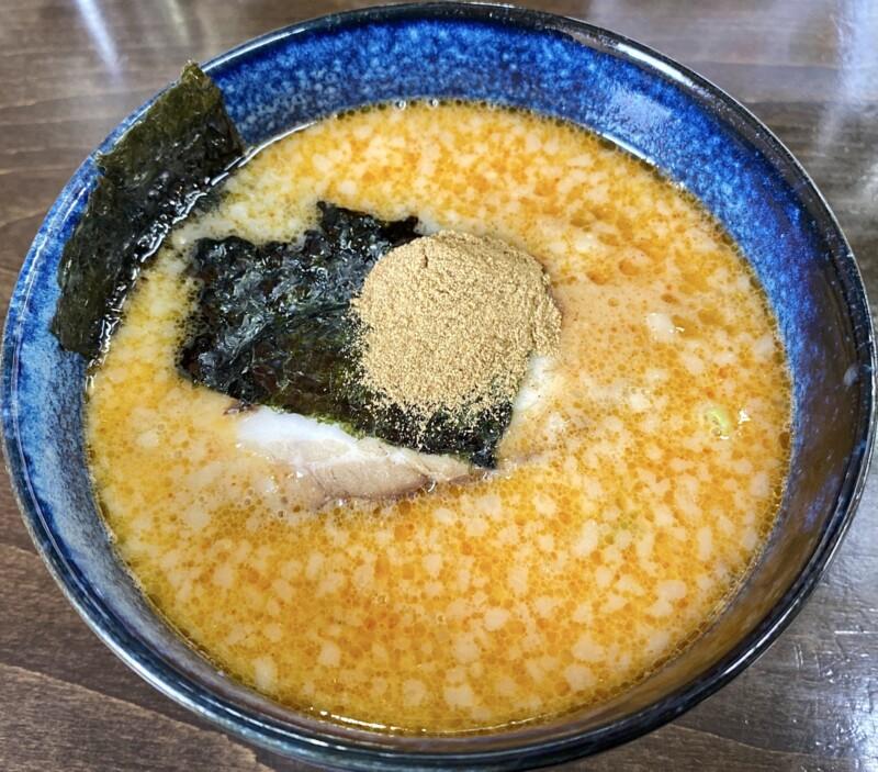 麺四郎分店 麺職人 暖家 ぬくもりや 秋田県能代市落合 濃厚魚介味噌つけめん ちょい辛 つけ汁 スープ