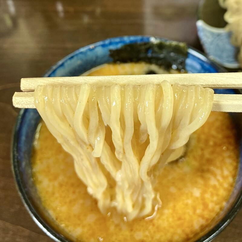 麺四郎分店 麺職人 暖家 ぬくもりや 秋田県能代市落合 濃厚魚介味噌つけめん ちょい辛 自家製麺