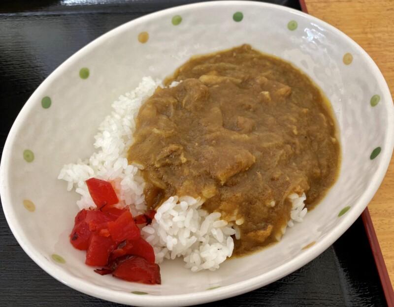 もりもり食堂 食楽々 くらら 秋田県由利本荘市小栗山 半カレー カレーライス