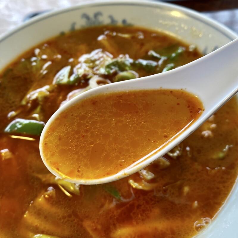 レストハウスポパイ 秋田県山本郡八峰町八森 烈辛ら〜めん ラーメン スープ