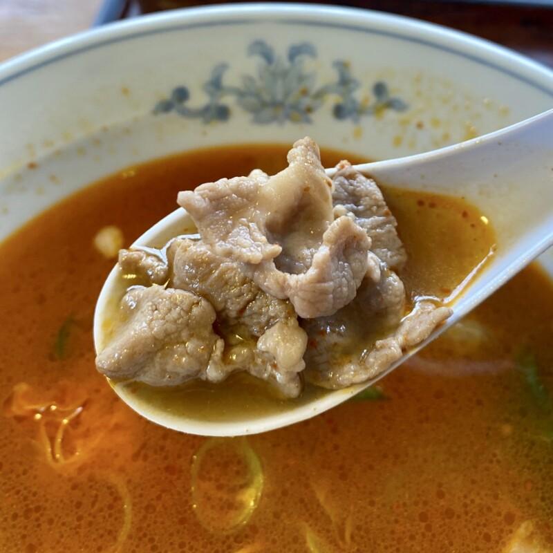 レストハウスポパイ 秋田県山本郡八峰町八森 烈辛ら〜めん ラーメン スープ 豚肉