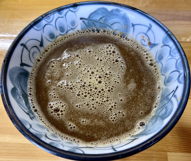 らーめん萬亀 ばんき 秋田県秋田市山王新町 汁なし坦々つけめん塩 つけ汁濃厚 スープ