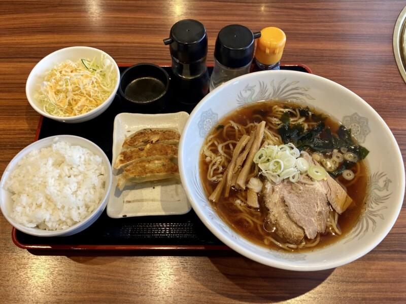 焼肉とラーメン 大昌園 バイパス店 秋田県能代市 ラーメンランチ 醤油ラーメン