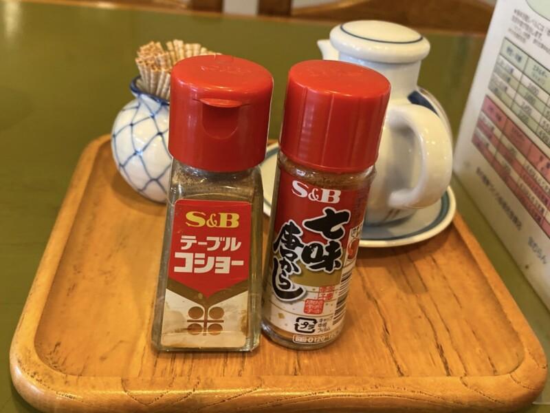 宝むらん 秋田県能代市柳町 ラーメン 醤油ラーメン 味変 調味料