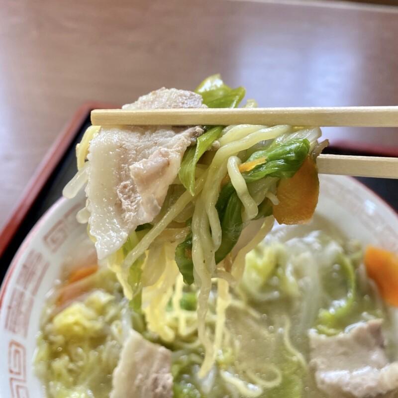 万福食堂 まんぷくしょくどう 秋田県能代市東町 タンメン 麺