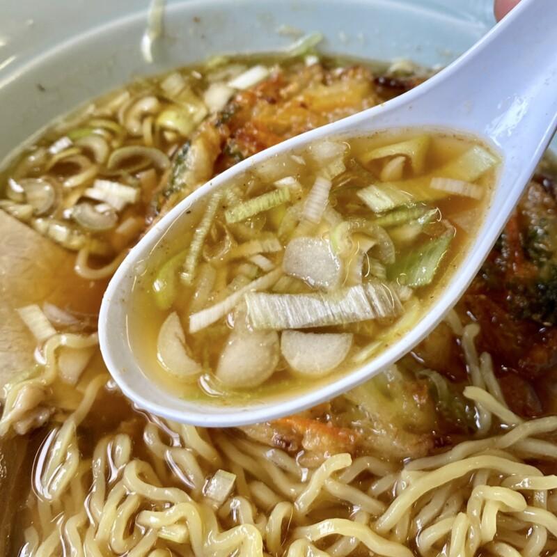 らーめん元気 花ふじ 秋田県能代市柳町 天ぷら中華(かき揚げ) スープ ネギ