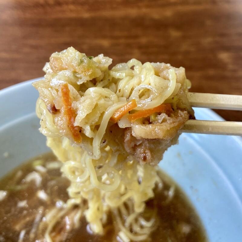 らーめん元気 花ふじ 秋田県能代市柳町 天ぷら中華(かき揚げ) 麺