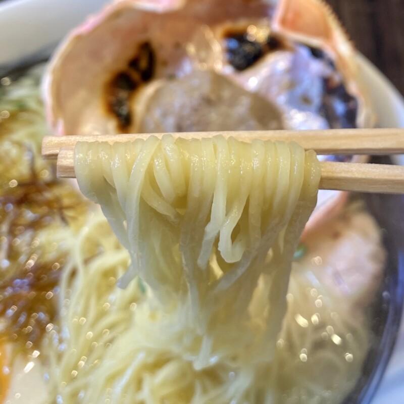 ぐらん麺α ぐらんめんアルファ秋田県秋田市中通 炙り蟹みそ塩ラーメン 麺
