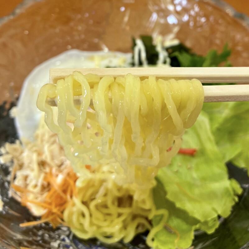 ほんだ亭 秋田県大館市餌釣 バンバンジィーみそ中華 棒々鶏 冷やし中華 麺