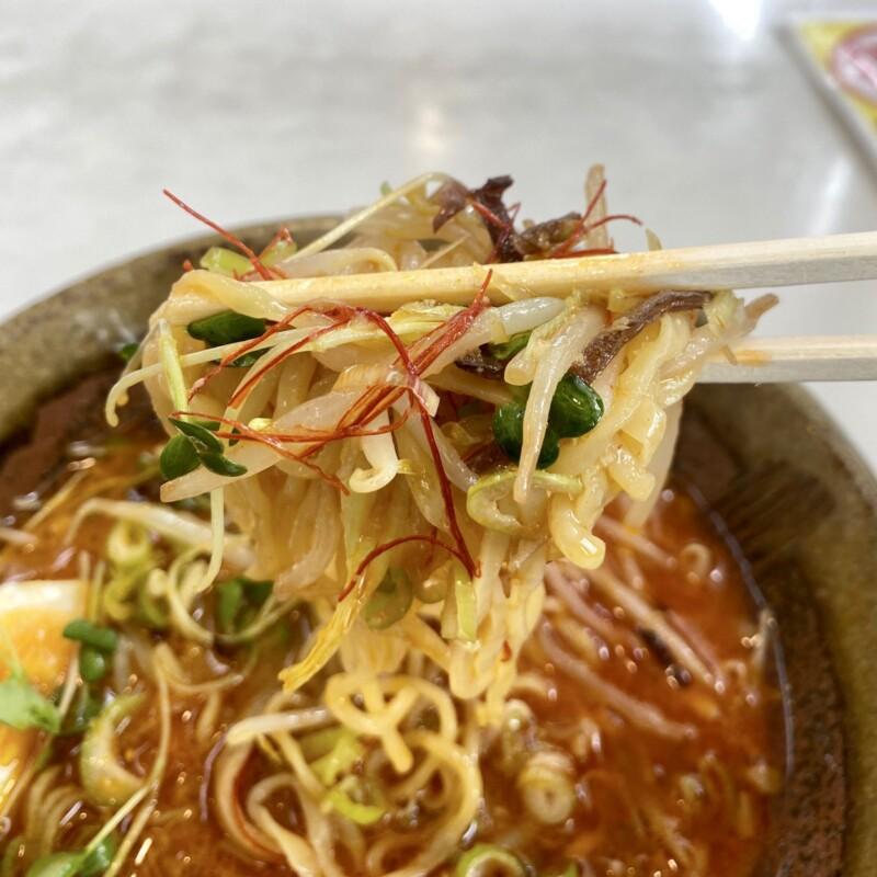 ラーメン ニューとん太 能代店 秋田県能代市 シンデンジャン 辛味噌ラーメン 麺