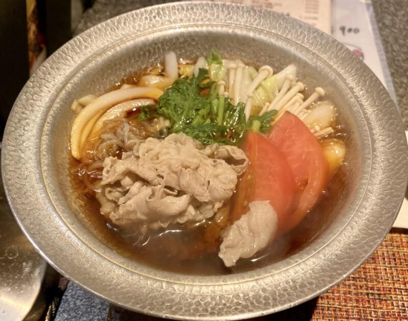 和ダイニング 我楽 郷土料理 秋田県秋田市中通 トマトすき焼き