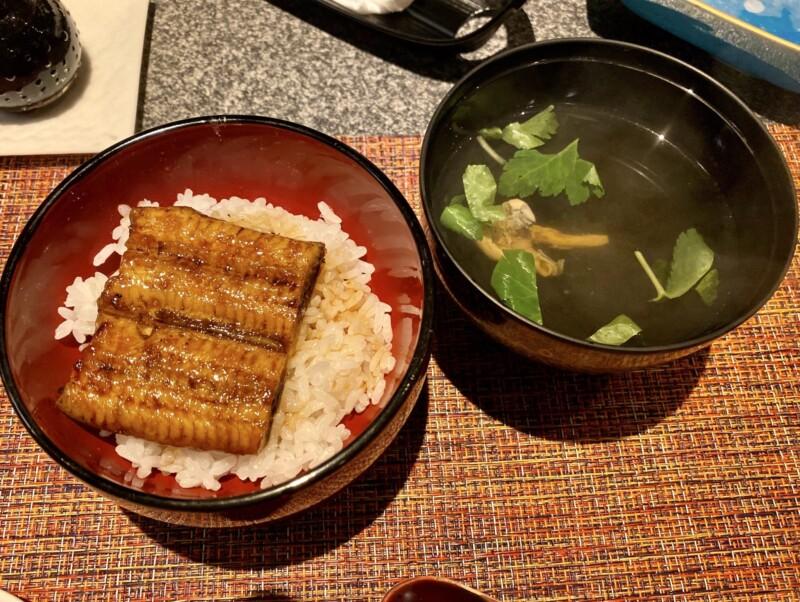 和ダイニング 我楽 郷土料理 秋田県秋田市中通 鰻丼 うなぎ丼と肝吸い