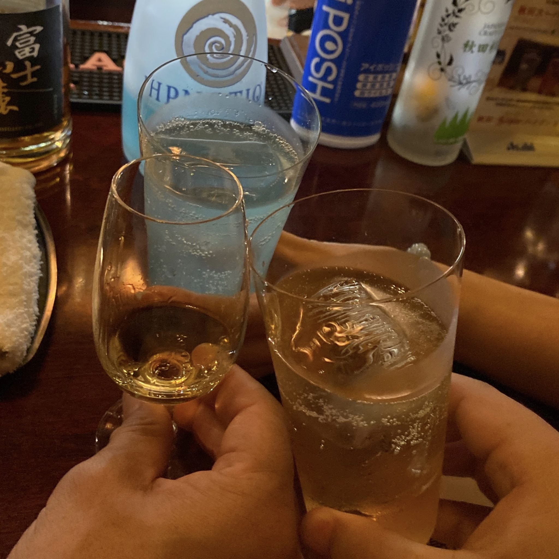 BAR USHIO うしお 秋田県秋田市南通 ジャパニーズウイスキー 乾杯