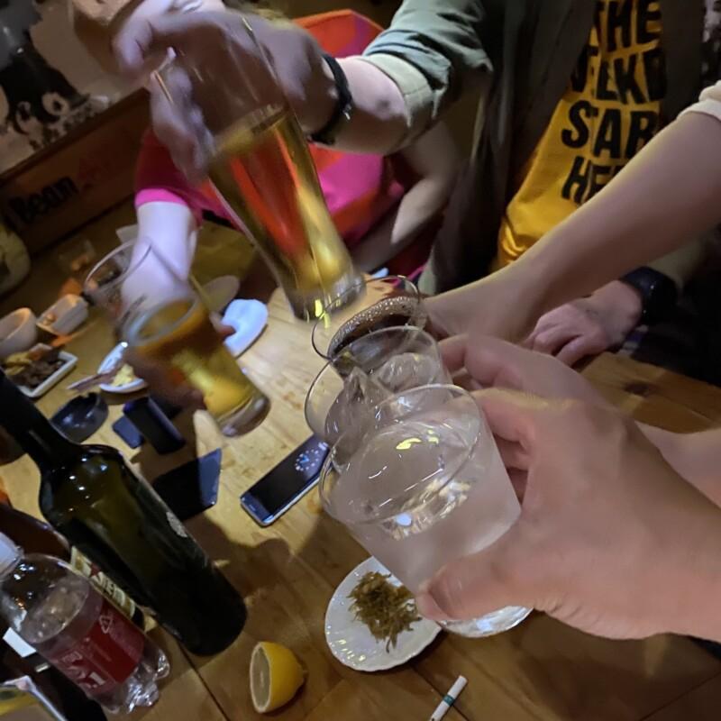 ここじゃむoser 秋田市大町 焼酎 乾杯