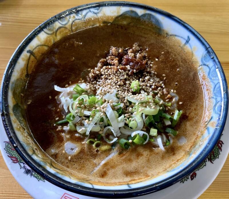 らーめん萬亀 ばんき 秋田県秋田市山王新町 坦々つけめん 濃厚醤油 つけ汁 スープ