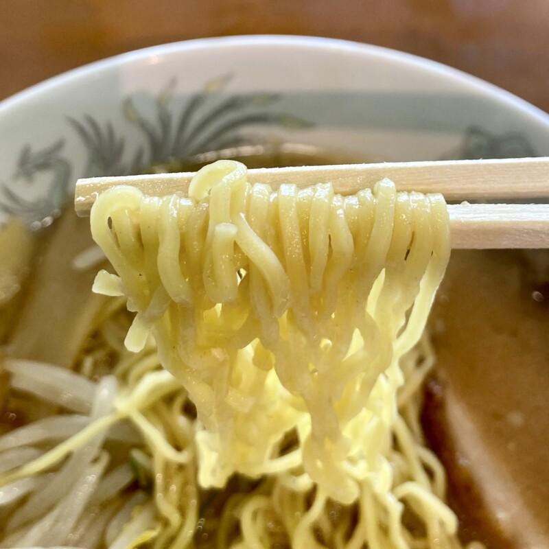 農家レストラン なのはな 秋田県南秋田郡大潟村 道の駅おおがた内 黄大豆味噌ラーメン 麺