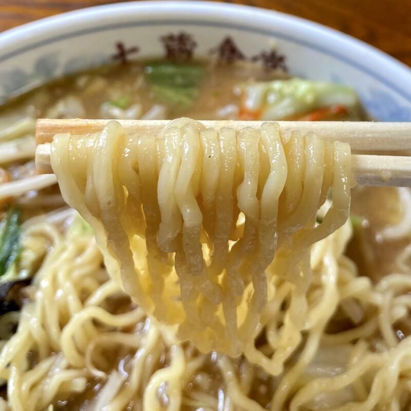 大蔵食堂 山形県最上郡大蔵村清水 からみそラーメン 辛味噌ラーメン 麺