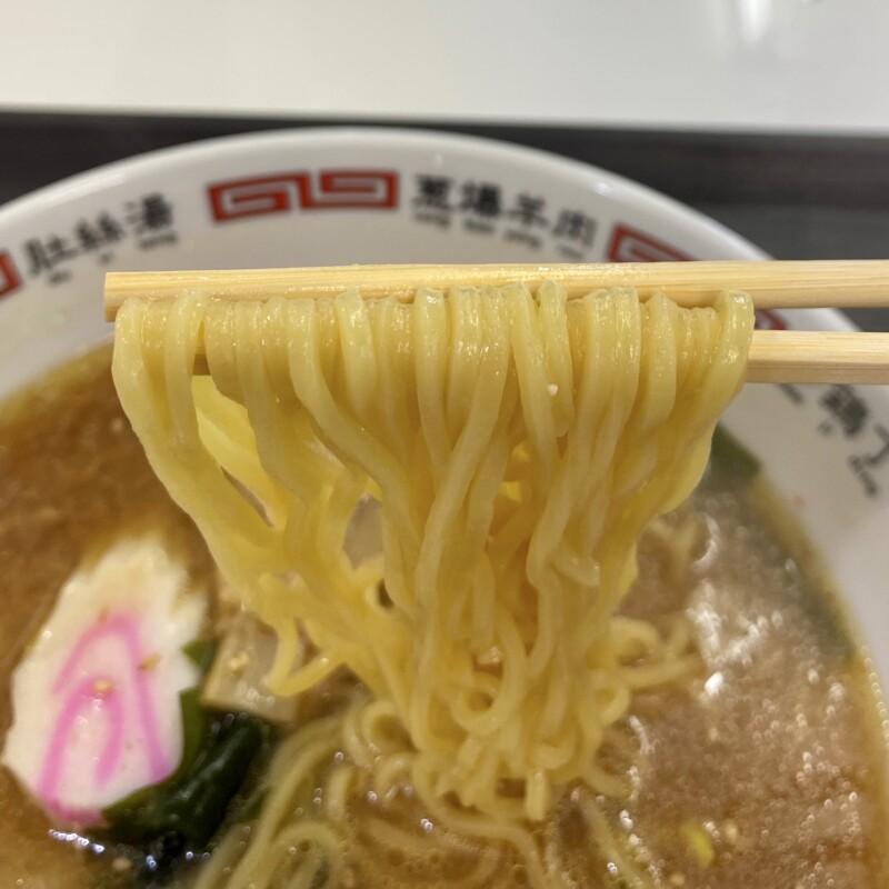 ドライブインこまち 秋田県潟上市昭和豊川竜毛 味噌ラーメン 麺