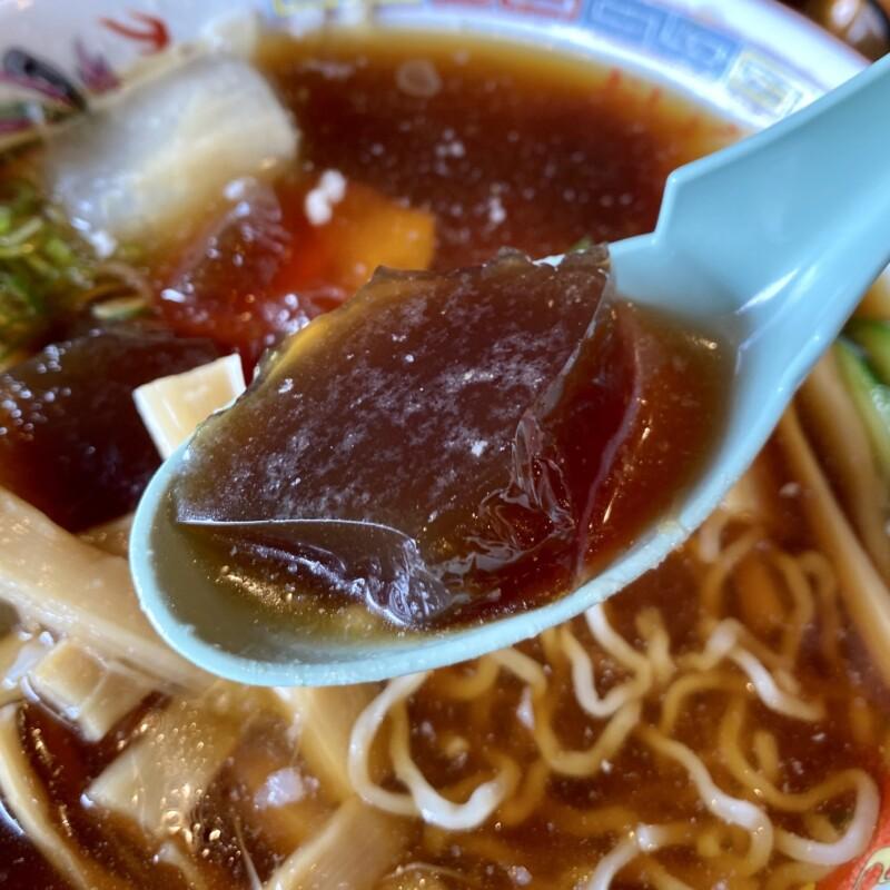 山大前やまとや 山形県米沢市城南 冷たいラーメン 冷しらーめん スープ 煮凝り