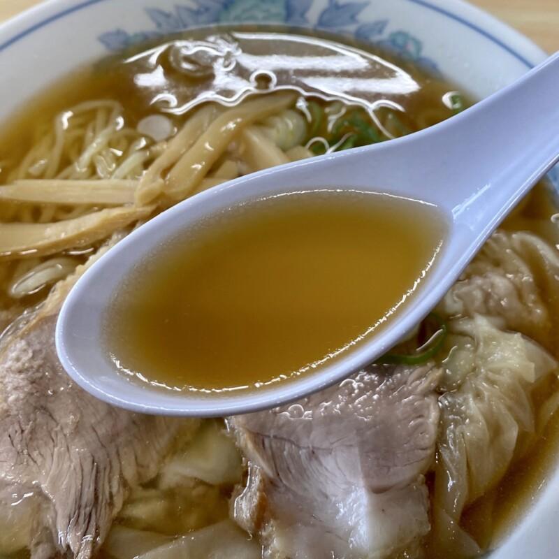 手打ち中華そば 大丸 山形県酒田市光ケ丘 ワンタンメン スープ