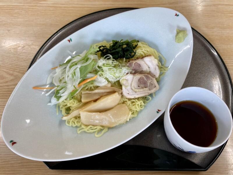 比内地鶏と郷土料理の店 鶏次楼 けいじろう 秋田県由利本荘市西目町沼田 冷やし地鶏つけめん