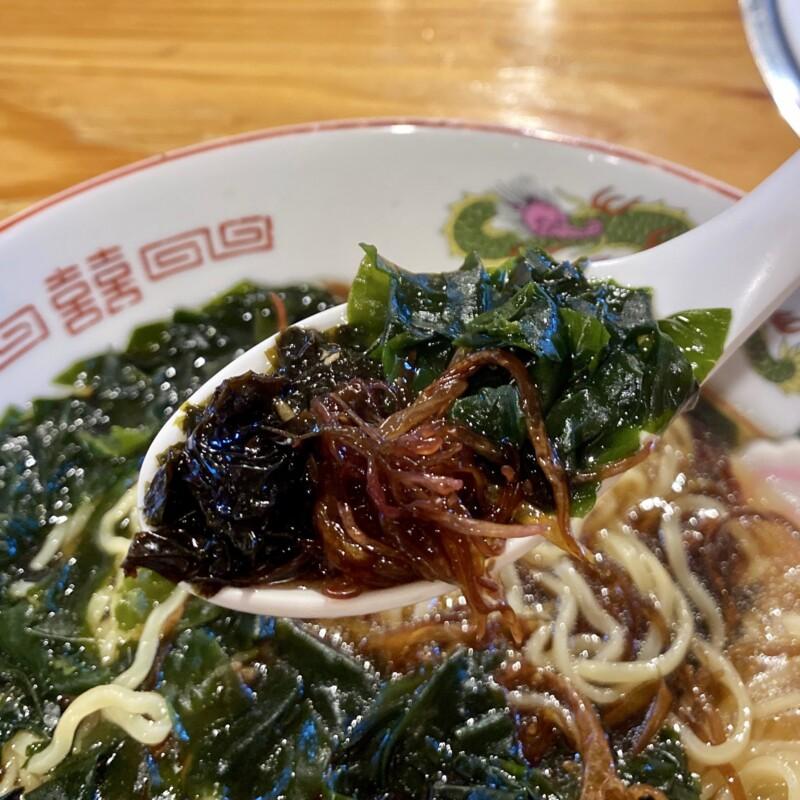 焼肉 大将 秋田県にかほ市金浦 にかほ陳屋内 大将ラーメン 海藻ラーメン スープ