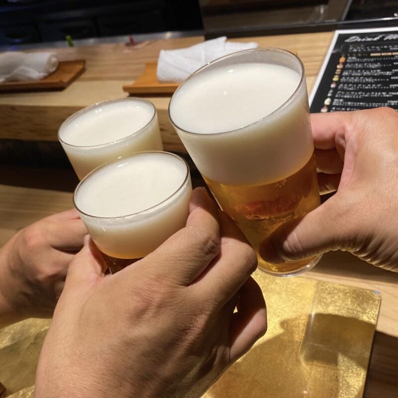 山形牛個室焼肉 極 hanare はなれ 山形県山形市香澄町 生ビール 乾杯