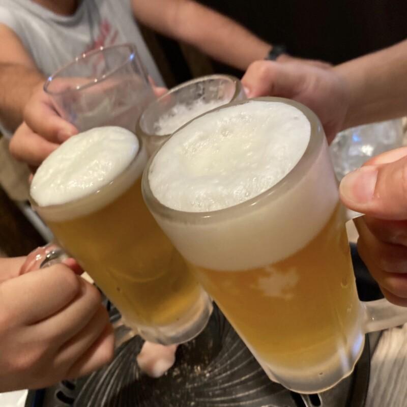 中華蕎麦 ひろた 山形県山形市七日町 生ラムパーティー 生ビール 乾杯