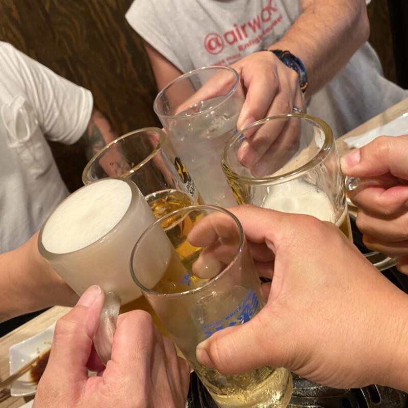 中華蕎麦 ひろた 山形県山形市七日町 生ラムパーティー 乾杯