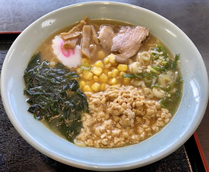 レストランしらやま 秋田県男鹿市払戸 男鹿ふっと観光案内所内 納豆ラーメン みそ味 味噌ラーメン