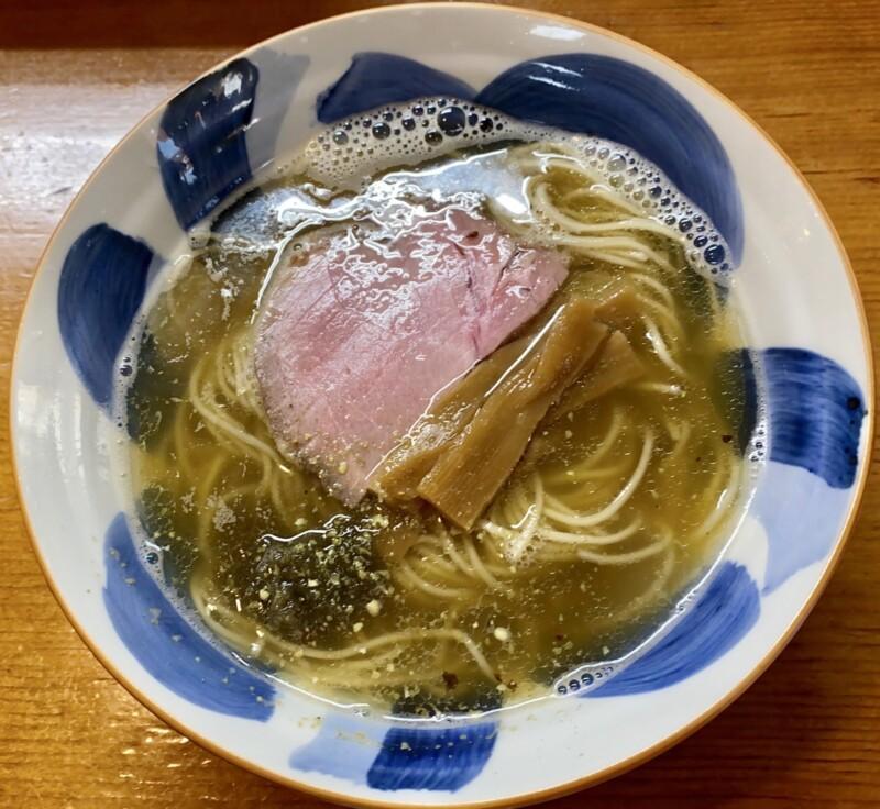 さんくるげ 福島県田村市滝根町 塩煮干らぁ麺 塩煮干しラーメン