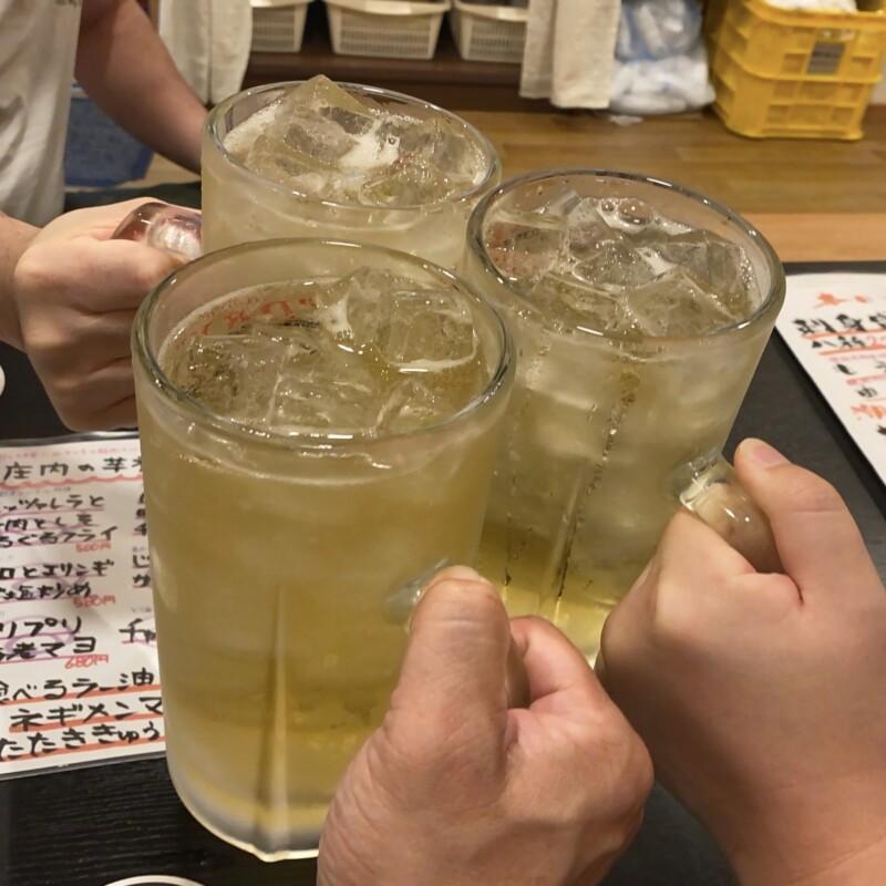 庄内魚河岸酒場 潮彩 しおさい 山形県鶴岡市末広町 メガハイボール 乾杯