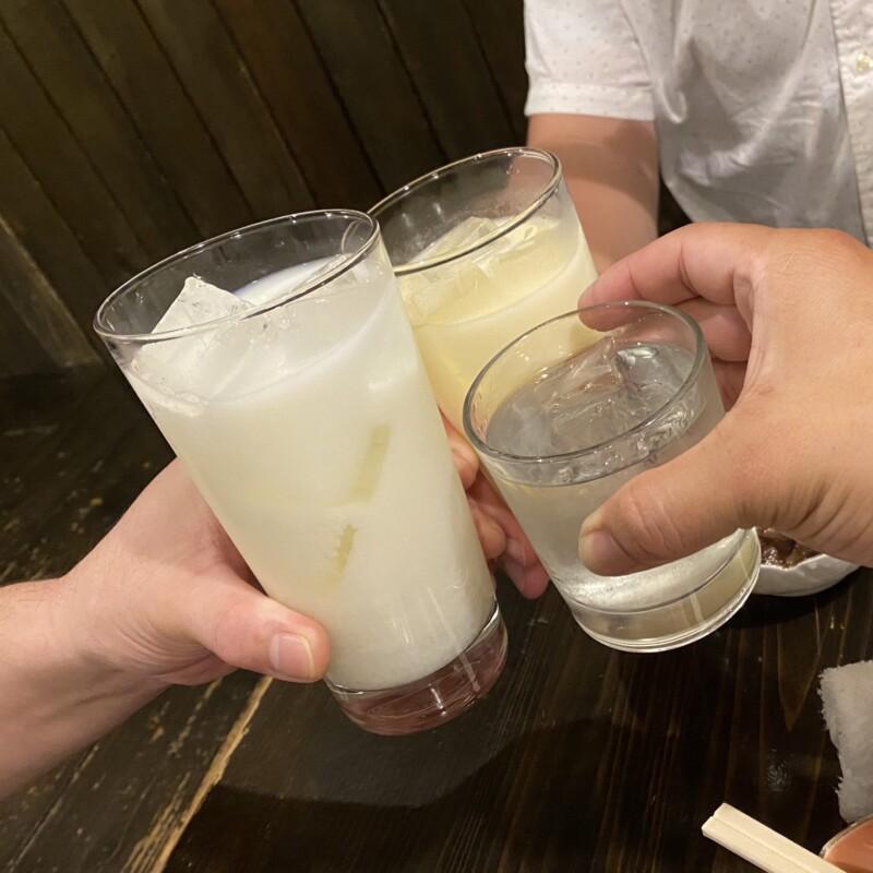 やきとり かこ 山形県鶴岡市本町 泡盛 乾杯