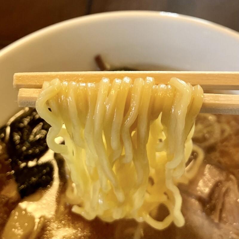 ごちそうラーメン おだしま屋 岩手県北上市和賀町長沼 醤油ラーメン 麺