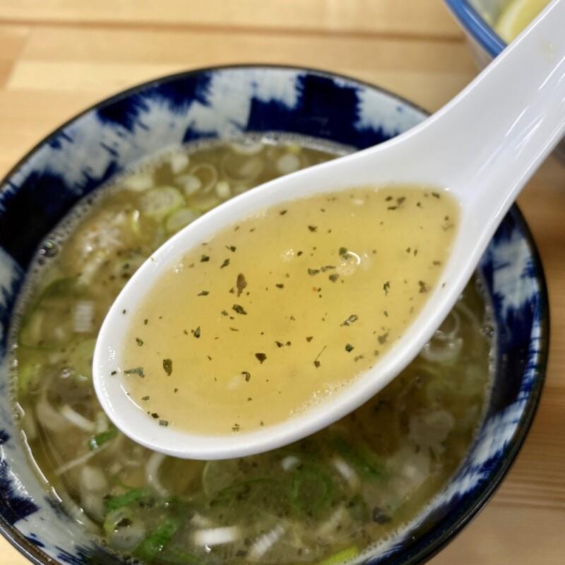 麺処 駒繋 こまつなぎ 青森県弘前市野田 塩つけ麺 つけ汁 スープ