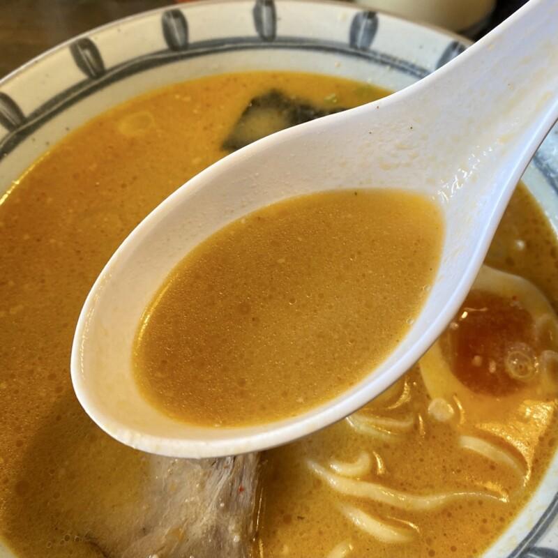 らーめん麺次郎 秋田県北秋田市米内沢 赤味噌らーめん スープ