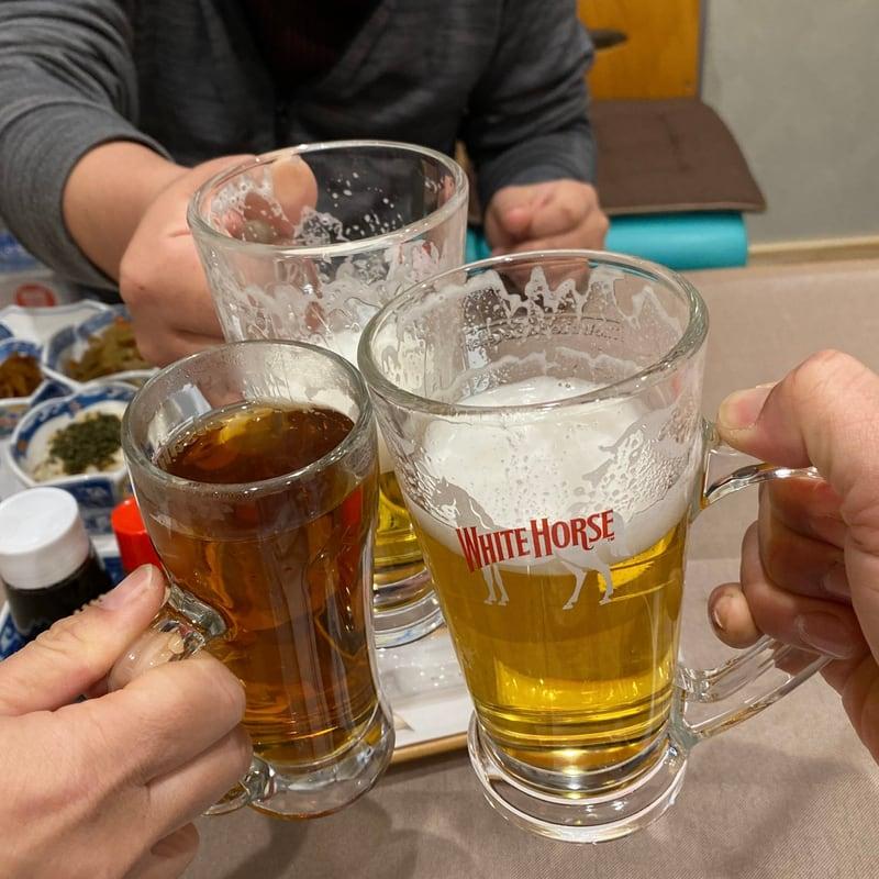 隠れ囲酒屋 酒丸 秋田県秋田市中通 別亭酒丸 生ビール 乾杯