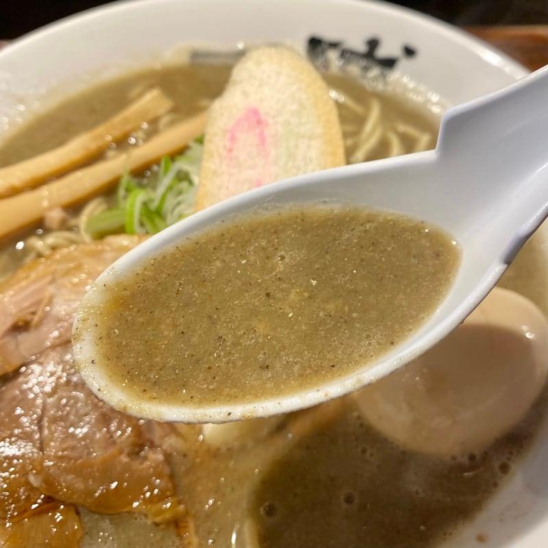 一球 秋田県秋田市手形 超濃厚豚骨鶏白湯煮干しラーメン 七代目煮干そば「極」改 スープ