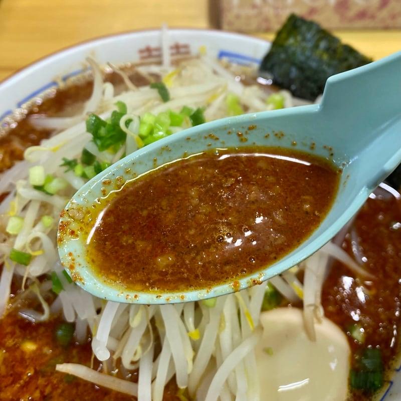 らーめん萬亀 ばんき 秋田県秋田市山王新町 辛いラーメン ブレンド醤油 スープ