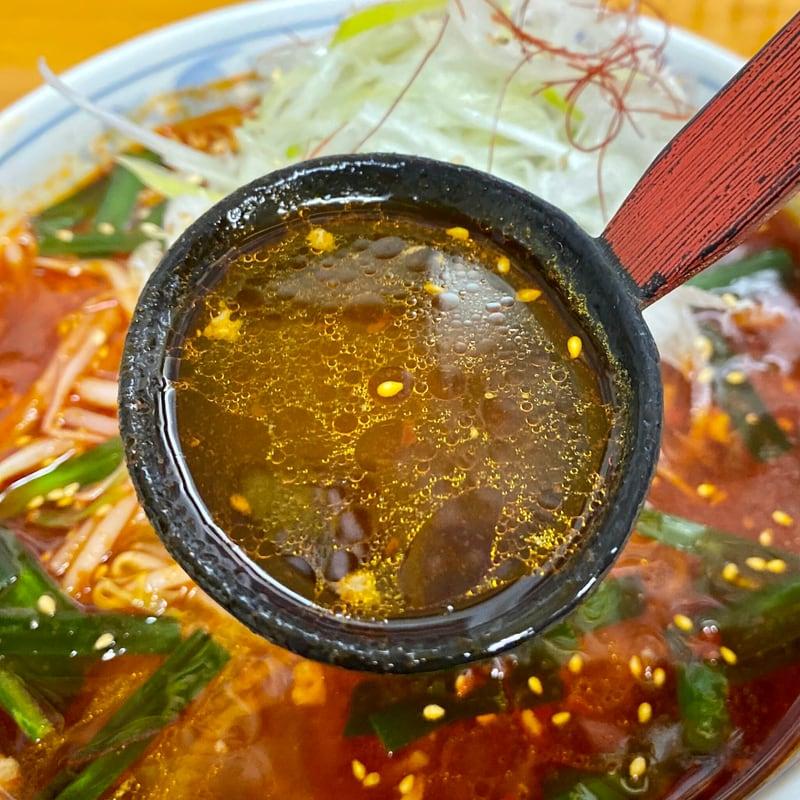 らーめん へのかっぱ 秋田県横手市駅前町 かっぱ坦々麺 担々麺 スープ