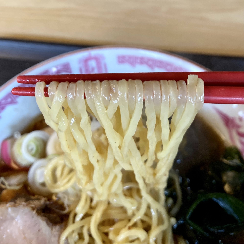 和食 三吉 さんきち 秋田県仙北市角館町小勝田 特製ラーメン 醤油ラーメン 麺