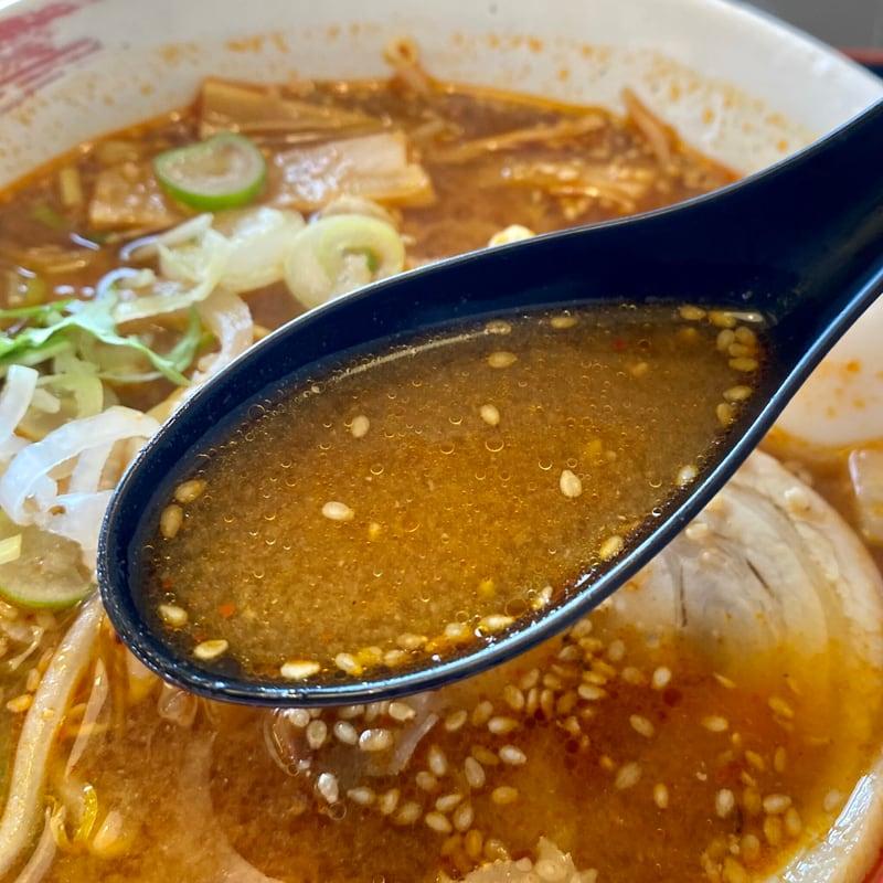 大曲食堂 秋田県大仙市大曲飯田町 シビれる辛味噌ラーメン スープ