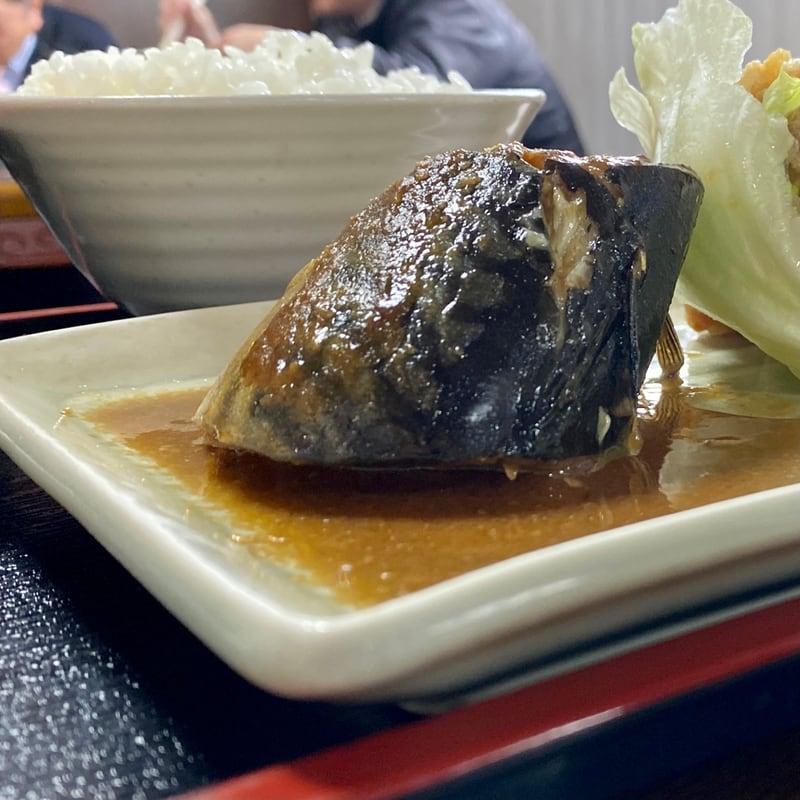 お食事処 秋桜 こすもす 秋田県秋田市新屋豊町 サバ味噌煮とから揚げセット 鯖味噌煮